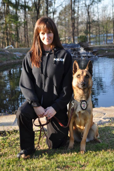 Chief Wendy Williams and K9 Remo