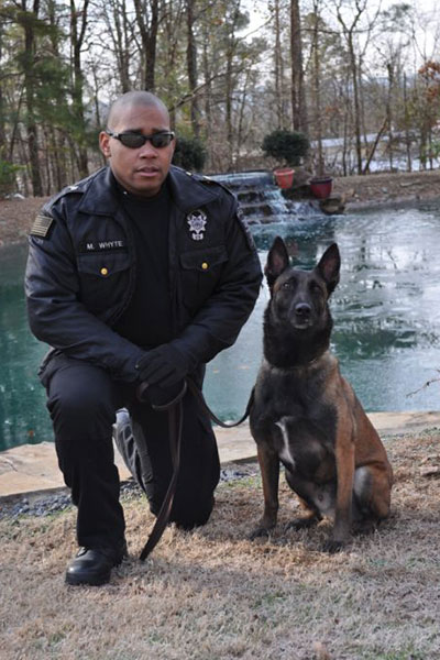 M. Whyte and K9 Elton